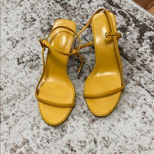 Mustard strappy sandals